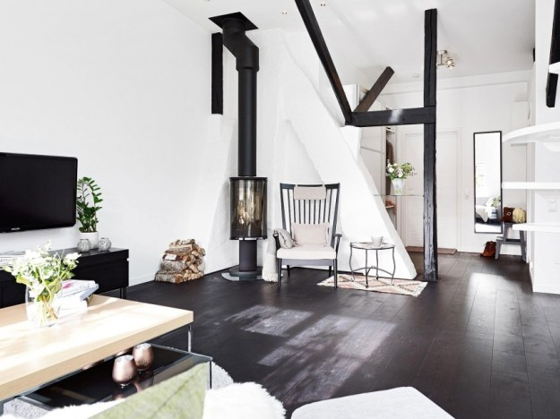 Scandinavian loft with unique floor plan 3