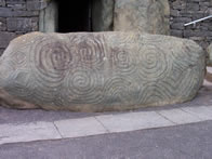 Celtic design carved into the large tomb stones