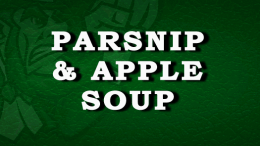 Parsnip & Apple Soup Recipe