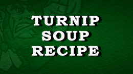 Turnip Soup Recipe