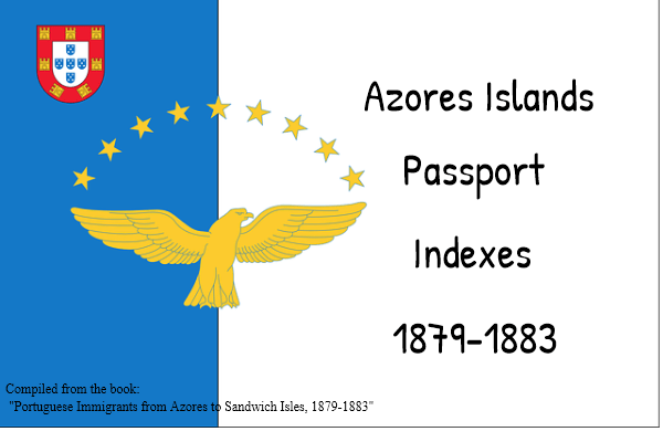 Indexes to Azores Island Passports 1879-1883