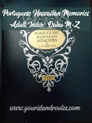 portuguese hawaiian memories index oahu