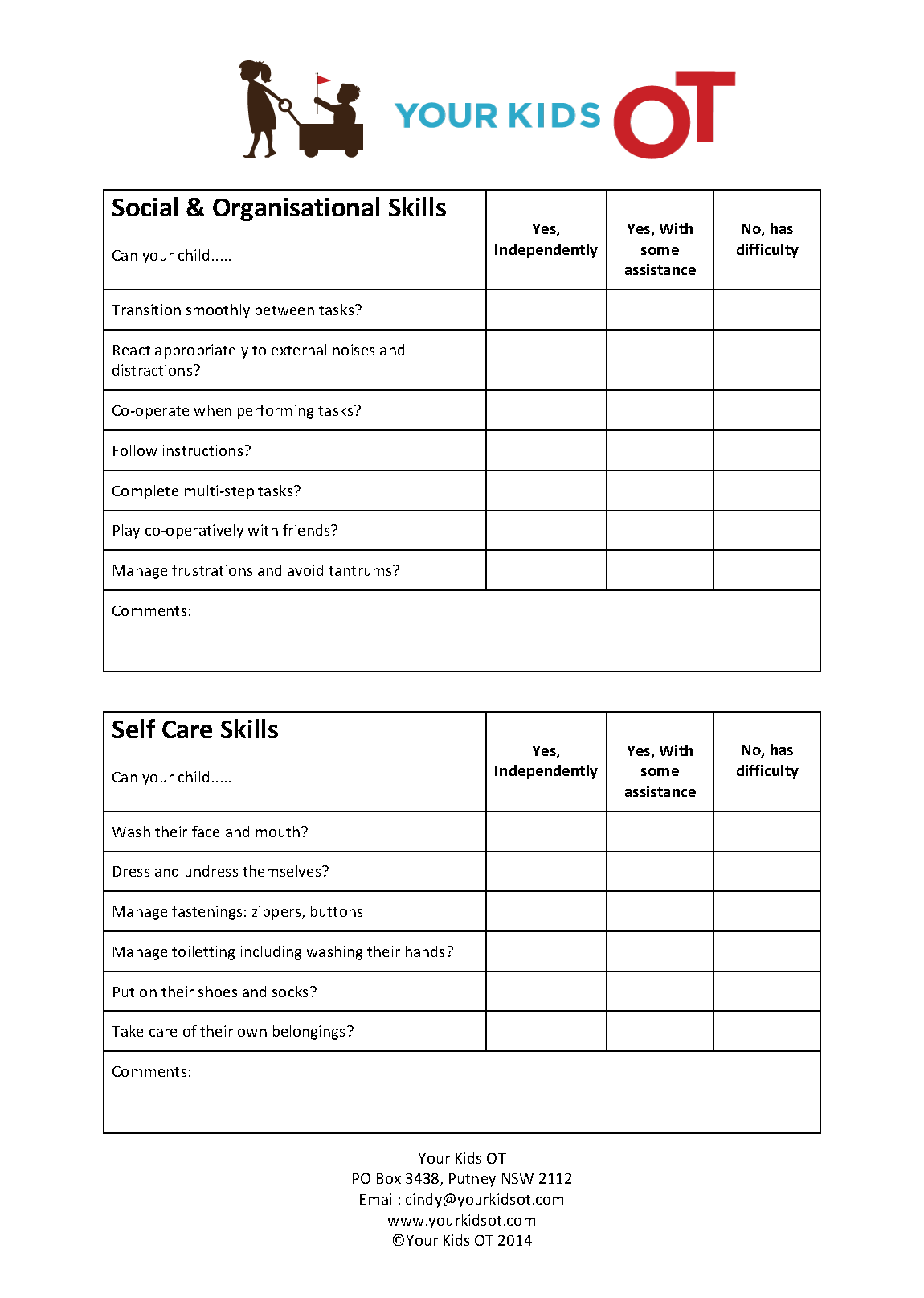 Free School Readiness Checklist
