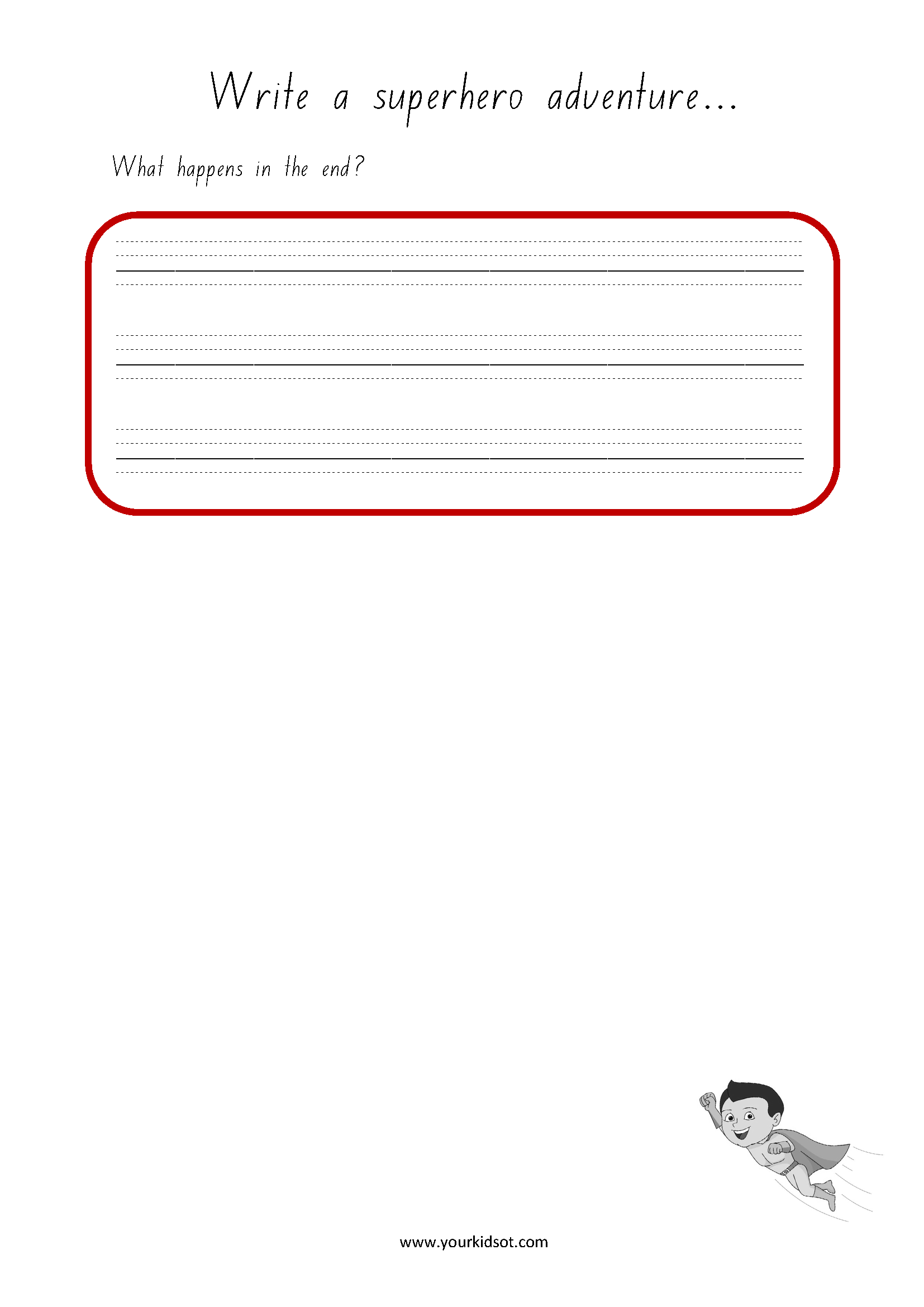 My Superhero Writing Prompts