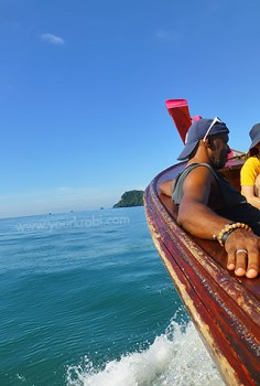 Longtail boats are the traditional means of getting around.