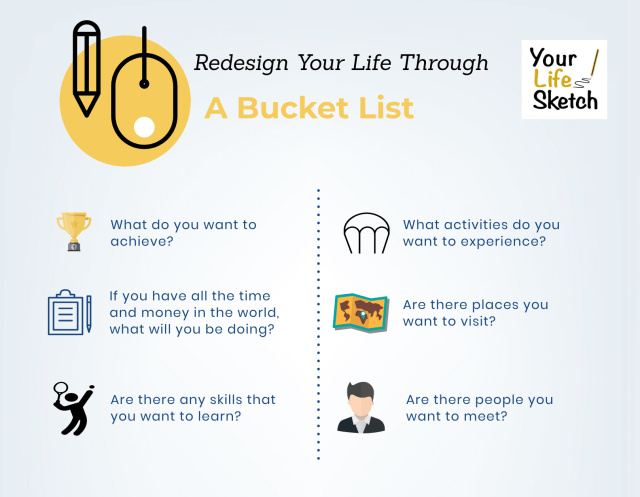 Redesign your life through a bucket list