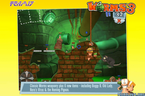 Trucchi, cheat, hack Worms 3 v 1.80 APK per Android: soldi illimitati e sbloccare tutto