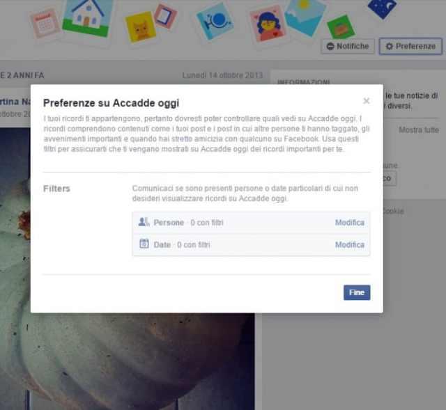 """Eliminare e disattivare """"Accadde oggi"""" di Facebook"""
