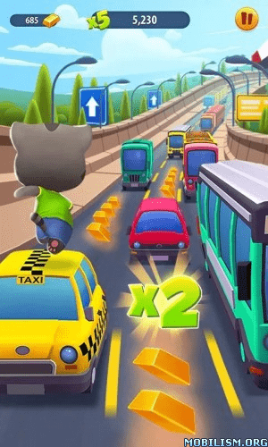 Trucchi Talking Tom Corsa all'oro APK Android | Oro, dinamite, gemme infinite