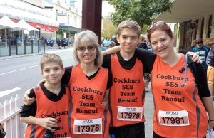 The Jarvis family including Josiah, 12, Jane, Jayden, 14, and Lucy Renouf participatin in last year's Run for a Reason.