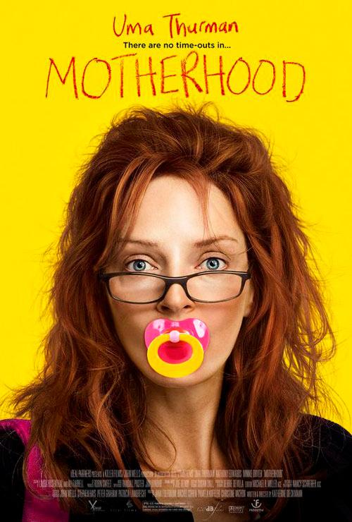 Filmomslag Motherhood med Uma Thurman.