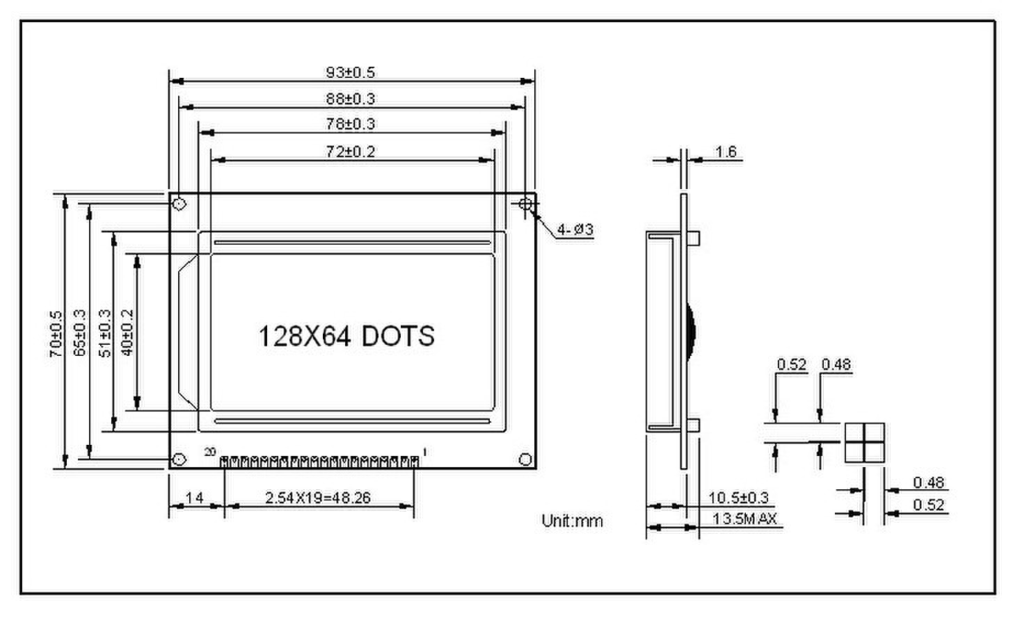Lcd Module 128 64 Dots Lcd Module Blue Screen 5v Lcd Lcd