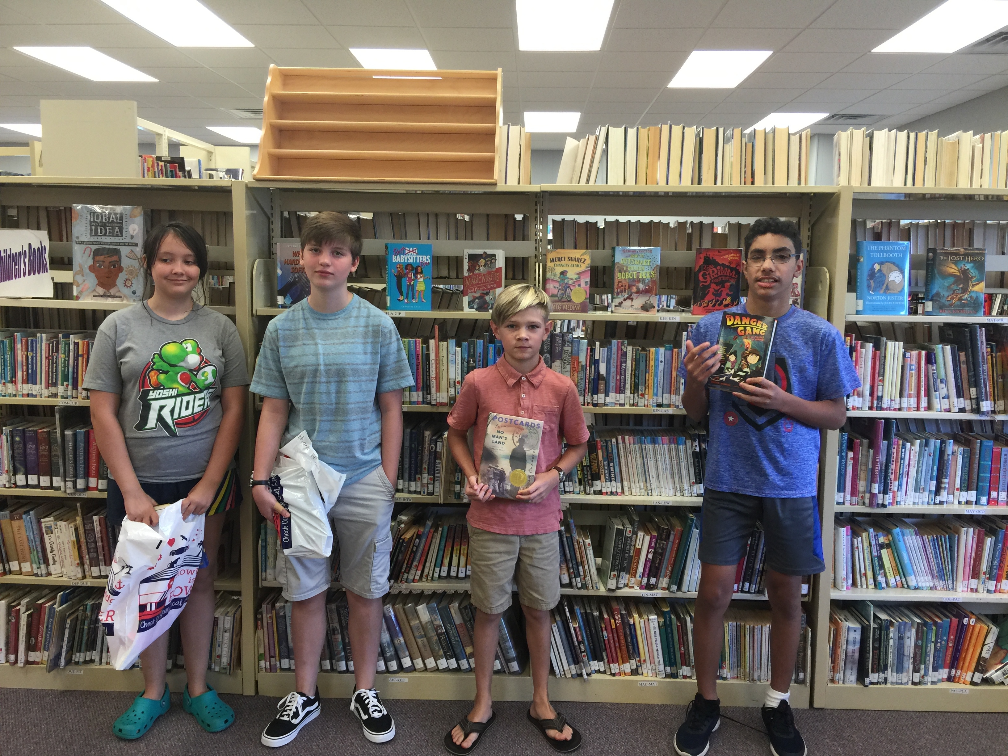 Congratulations to our Summer Reading Middle School winners!