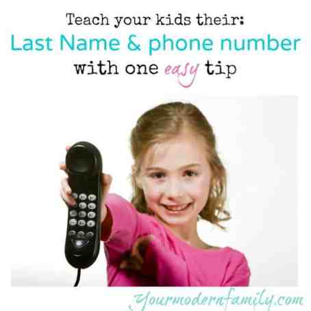 teach your kids their name & phone number