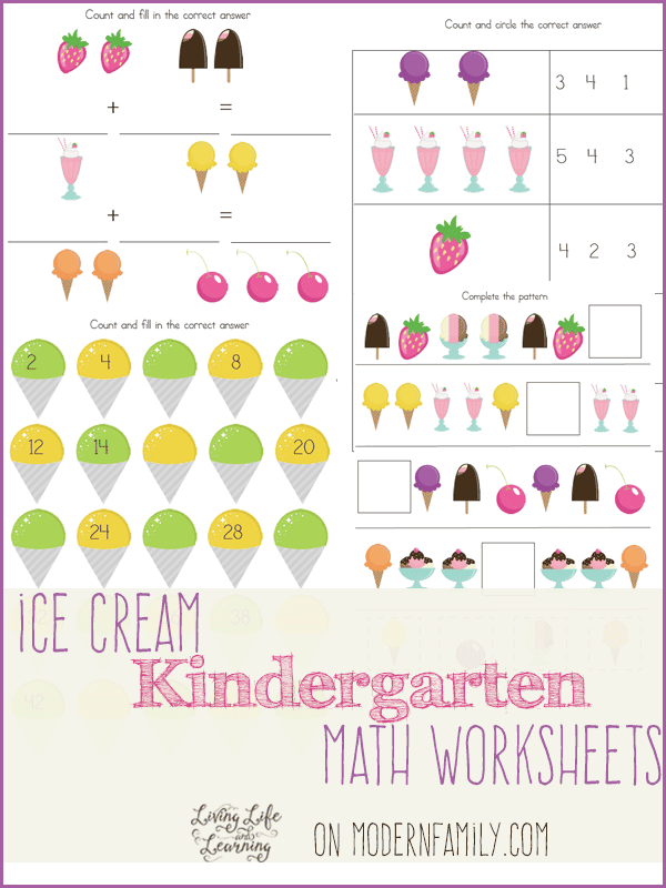 12 Pages Of Kindergarten And 1st Grade Math Free Printables