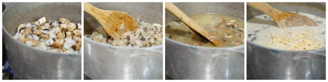 Step by step photos to make Chicken Tetrazzini Soup Recipe