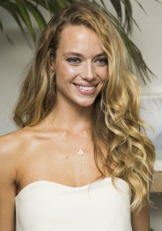 Hannah Ferguson is known for her beautiful blue eyes