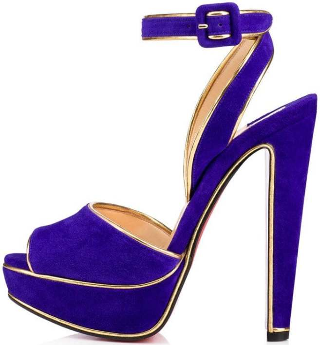 new style eec2c 18777 Louloudance Sandals With Gold Lamé Piping by Christian ...