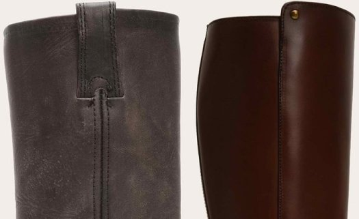 Several types of leather finishes are used to make Frye boots