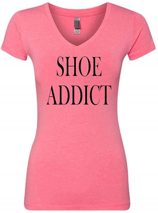 Shoe Addict Funny V-Neck T-Shirt