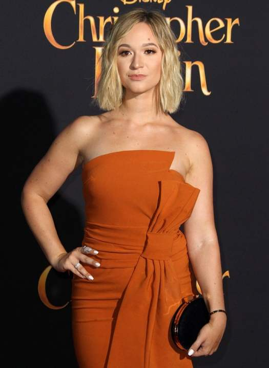 Alisha Marie rocked a Miss Circle dress for the premiere of 'Christopher Robin' held at the Main Theater on the Walt Disney Studios lot in Burbank, California, on July 20, 2018