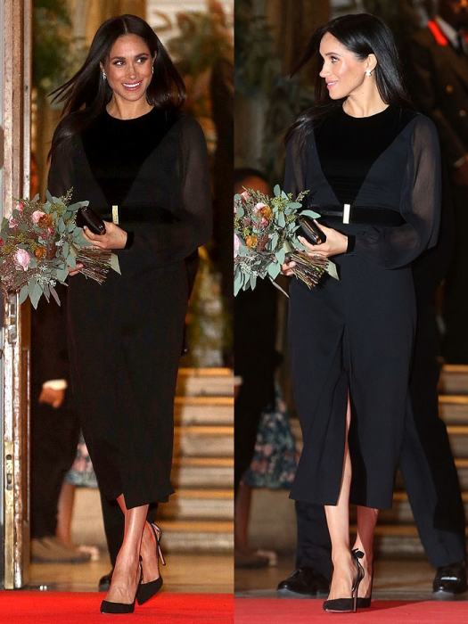 """Meghan Markle, Duchess of Sussex, departing the """"Oceania"""" Exhibition at the Royal Academy of Arts in London, England, on September 25, 2018."""