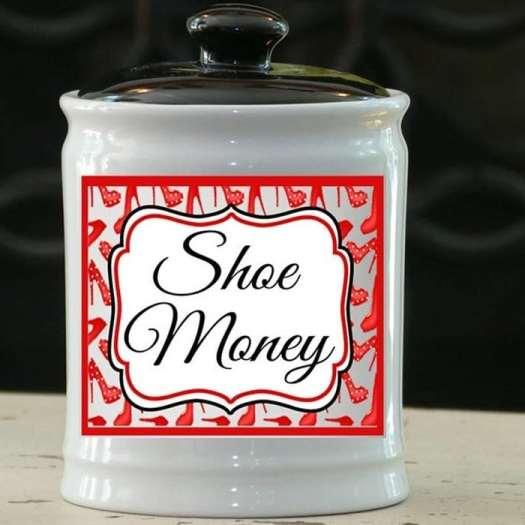 Shoe MoneyCeramic Jar