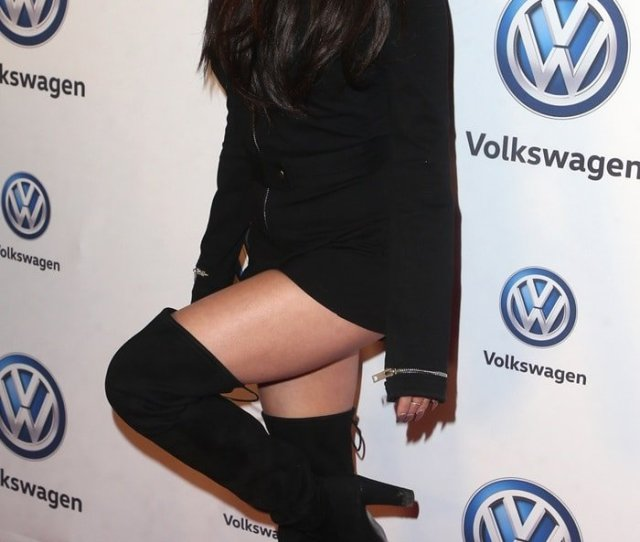 Vanessa Hudgens Flaunts Her Hot Thighs In Hiline Suede Over The Knee Boots From