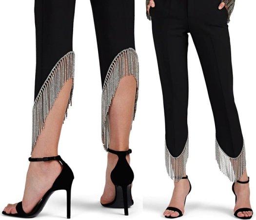 AREA Frieda Crystal-Embellished Pants