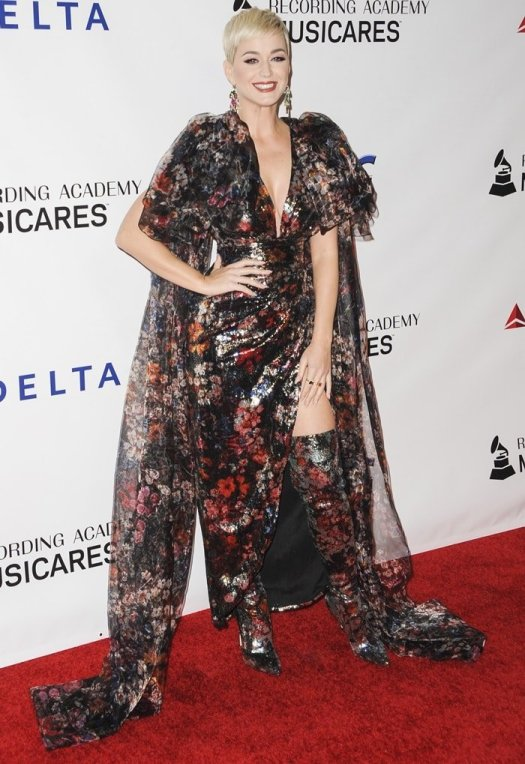 Katy Perry attending the 2019 MusiCares Person of the Year Event at the L.A. Convention Center in Los Angeles on February 8, 2019