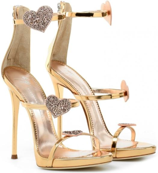 35f71f800dc79 Harmony Love Sandals With Swarovski Crystal-Studded Hearted Straps ...