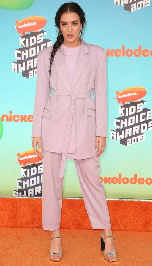 Lilimar Hernandez on the orange carpet at the 2019 Nickelodeon Kids' Choice Awards at the Galen Center in Los Angeles on March 23, 2019