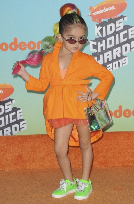 Taylen Biggs at the 2019 Nickelodeon Kids' Choice Awards held at the Galen Center in Los Angeles on March 23, 2019