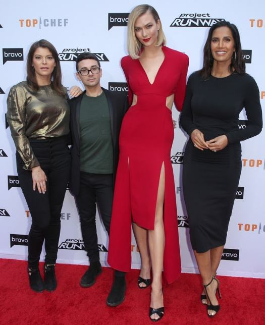 Gail Simmons, Christian Siriano, Karlie Kloss, and Padma Lakshmi at Bravo's A Night of Food and Fashion For Your Consideration Event at Vibiana in Los Angeles on April 16, 2019