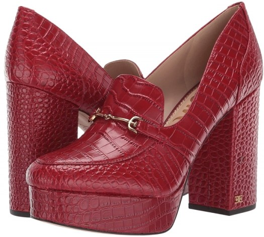 These Aretha platform loafers that are elegantly designed with a horsebit buckle will let you take a walk on the wild side