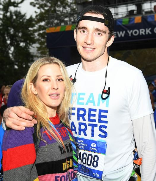 Ellie Goulding and Caspar Jopling at the TCS New York City Marathon on November 5, 2017