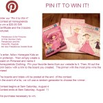 Enter HoneyPieKids.com Pin It To Win It Contest