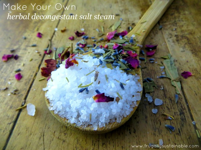 How To Make:  Herbal Decongestant Salt Steam