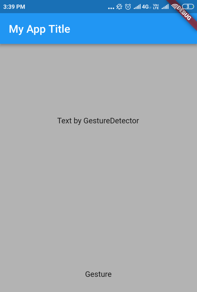 GestureDetector for adding interactivity ontap event
