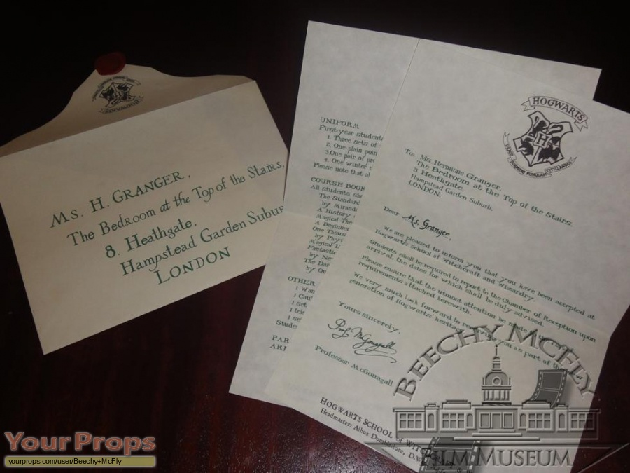 Harry Potter And The Philosophers Stone Hermione Grangers 1st Year Hogwarts Letter The