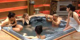 hot tub catfight.