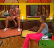 Caleb and Amber talking in the Beehive Room, Big Brother 16