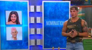 Caleb Reynolds nominates Victoria Rafaeli and Frankie Grande on Big Brother 16 episode 36