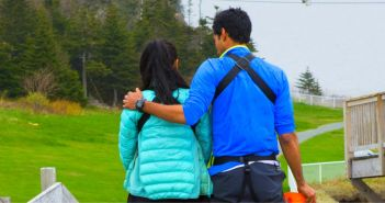 Sukhi Atwal and Jinder Atwal comfort each other as they leave Amazing Race Canada 2 in episode 11