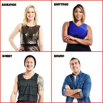 Big Brother Canada Cast Ashleigh Wood, Brittnee Blair, Bobby Hlad, Bruno Ielo