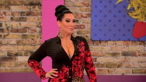 Michelle Visage in the werk room on RuPaul's Drag Race season 7