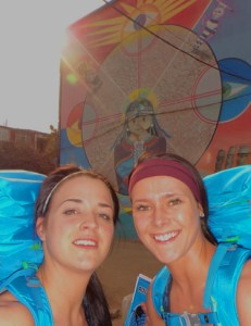 Dana Hayward and Amanda Johnson take selfies in Chile on The Amazing Race Canada 3 episode 2