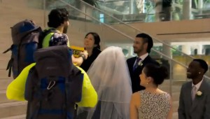 Matt Guinta and Nick Foti interrupt a wedding on The Amazing Race Canada 3