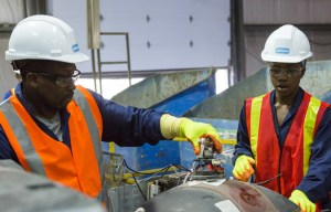 Simi Fagbongbe and Ope Fagbonge choose plastic on Amazing Race Canada 3