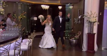 Former sous chef Andi and her husband Brice arrive for a special wedding reception hosted at #HellsKitchen